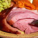 Baked Ham Shank with Brown Sugar Glaze, printable recipe as seen on Taste of Southern.