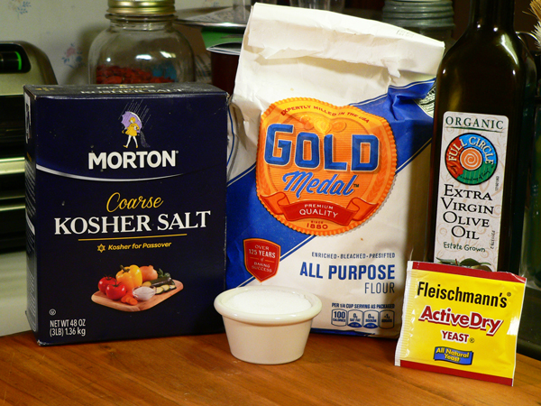 Easy Pizza Dough, you'll need these ingredients.