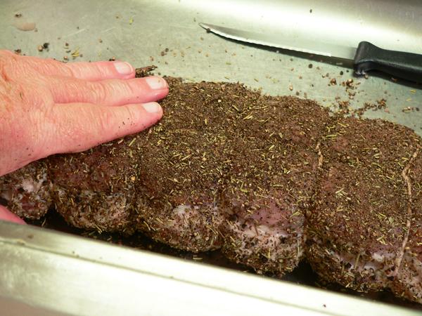 Pork Roast, add the spice rub.