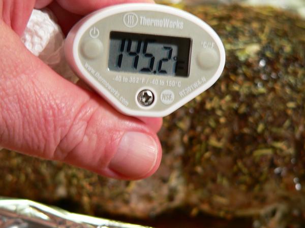 Pork Roast, check the temp.