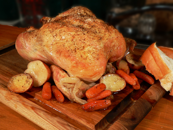 Easy Roast Chicken, recipe, with step-by-step, photo illustrated recipe on Taste of Southern.com.