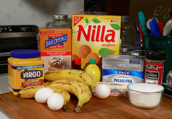Banana Pudding Cheesecake, You'll need these ingredients.