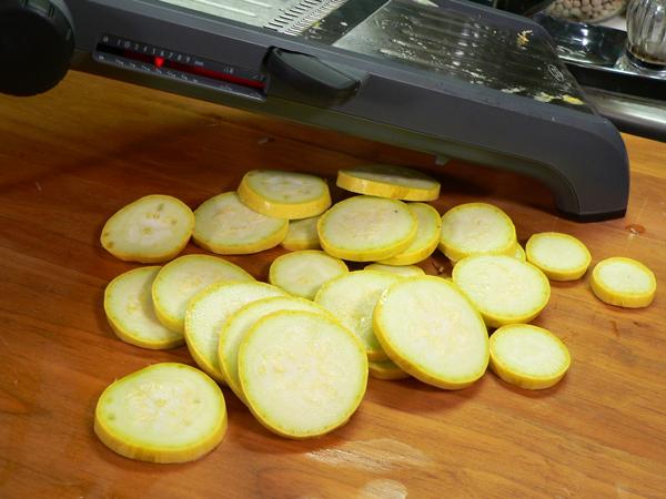 Vegetable Casserole, sliced squash.