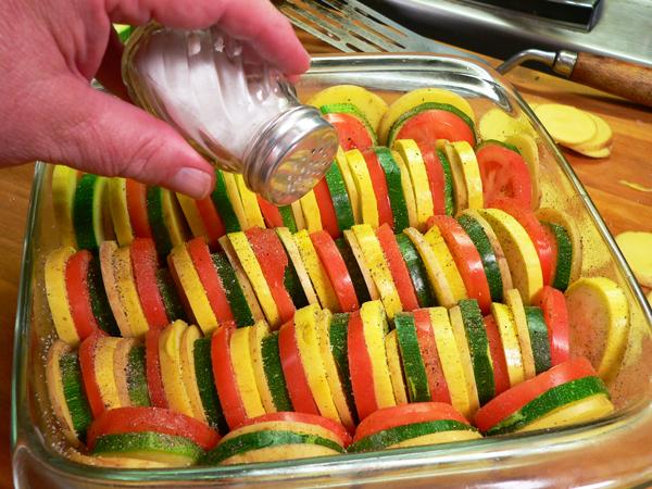 Vegetable Casserole, add salt.