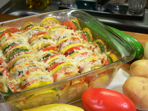 Summer Vegetable Casserole, as seen on Taste of Southern.com.