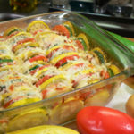 Summer Vegetable Casserole recipe, as seen on Taste of Southern.com with printable recipe.