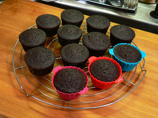 Chocolate Sour Cream Cupcakes, remove to a wire rack and let cool.