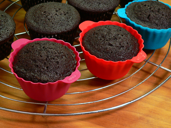 Chocolate Sour Cream Cupcakes, frost and enjoy.