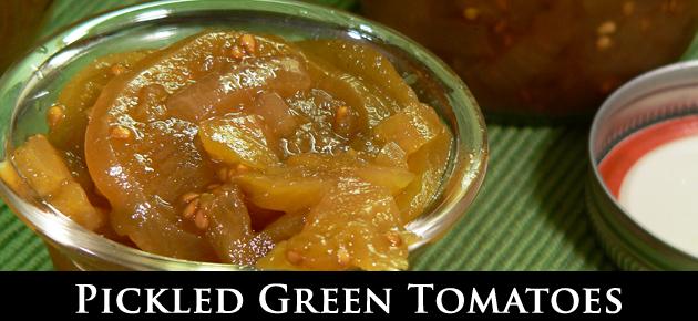Pickled Green Tomatoes, slider.
