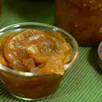 Pickled Sweet Green Tomatoes recipe, as seen on Taste of Southern.com.