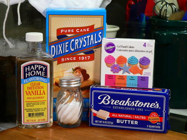 Vanilla Buttercream Frosting, ingredients you'll need.