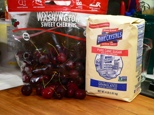 Cherry Preserves, you'll need these two ingredients.