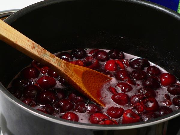 Cherry Preserves, add the cherries.