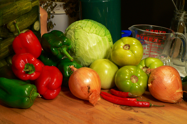 Chow Chow Relish, you'll need these ingredients.