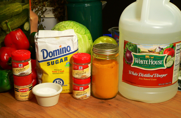Chow Chow Relish, you'll also need these ingredients.