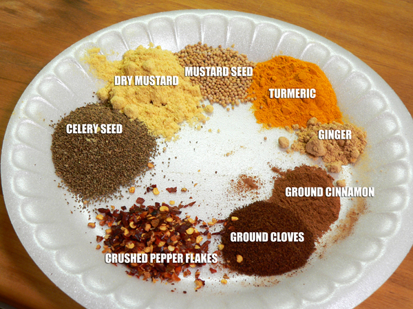 Chow Chow Relish, measure out your spices.