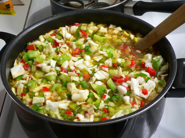 Chow Chow Relish, add the mixture.