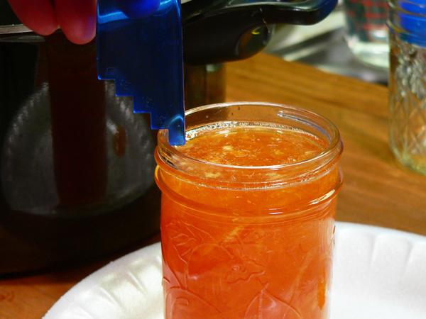 Citrus Marmalade, check for proper head space.