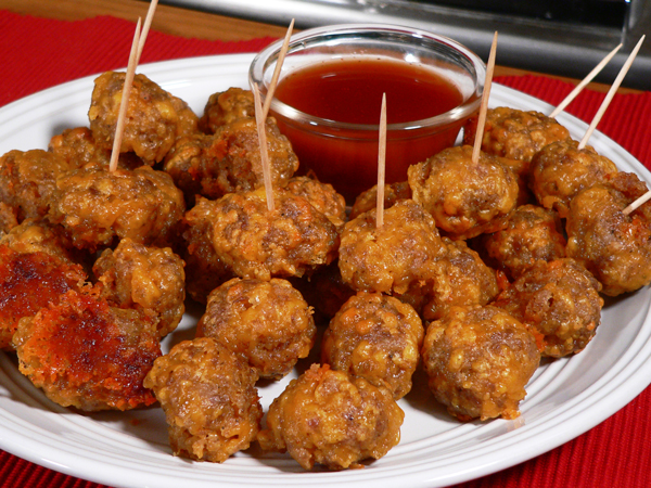 Sausage Balls, recipe as seen on Taste of Southern.