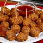 Sausage Ball Appetizers, as seen on Taste of Southern.com.