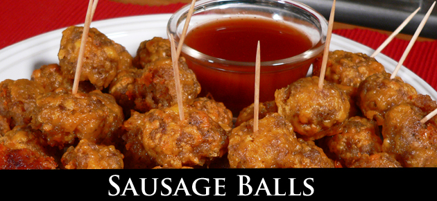 Sausage Balls, slider.