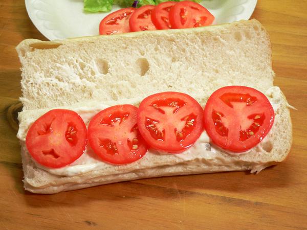 Soft Shell Crab, add the tomato.