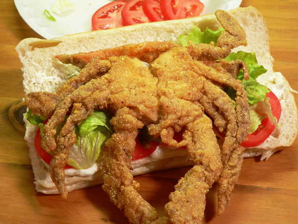 Soft Shell Crab, add the fried crab.