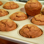 Pumpkin Spice Muffins, just two ingredients needed. As seen on Taste of Southern.