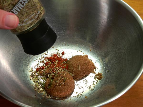 Roasted Pork Tenderloin, add the rosemary.