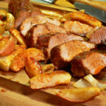 Roasted Pork Tenderloin with apples recipe, as seen on Taste of Southern.com. Printable recipe.