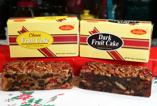 Jane Parker Fruit Cakes, classic and dark.