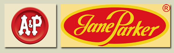 Jane Parker Fruit Cakes, logos.