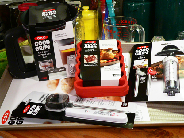 Cornish Hens, my new OXO kitchen tools.