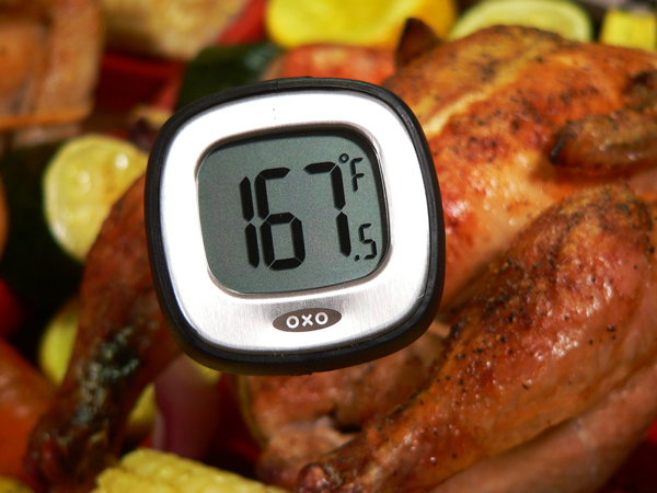 Cornish Hens, check with a digital thermometer.