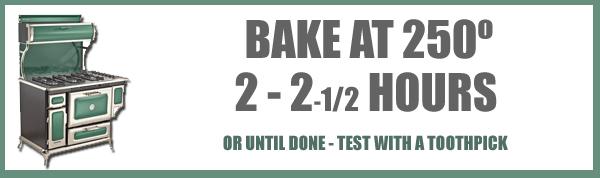 Orange Slice Cake, baking time and temp.