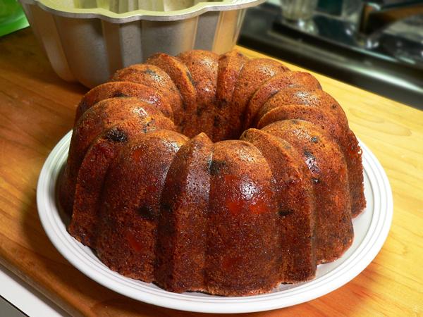 Orange Slice Cake, remove from pan.