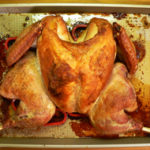Spatchcock or butterflied turkey recipe, as seen on Taste of Southern.
