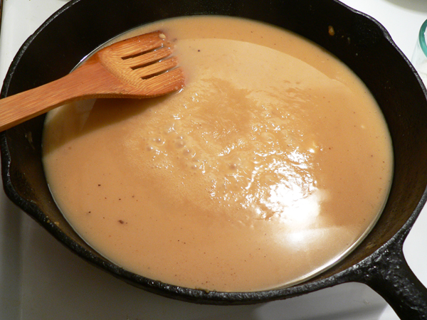 Giblet Gravy, bring to a low simmer.
