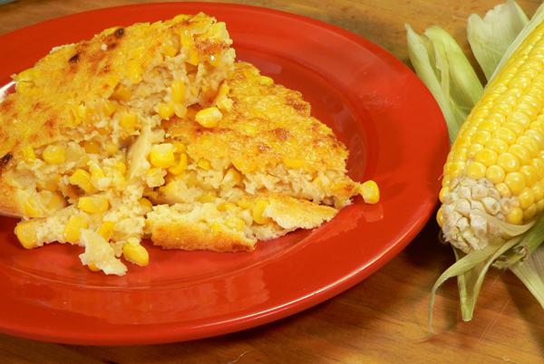 Corn Pudding, serve while warm.