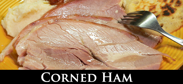 Corned Ham recipe, slider.
