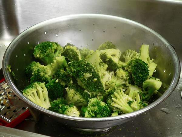 Broccoli Casserole, cook the broccoli according to package directions.