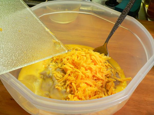 Broccoli Casserole, add the cheese.