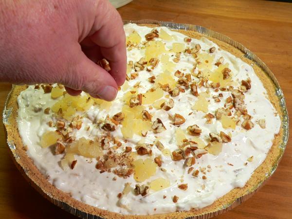 Pineapple Pie, garnish as desired.
