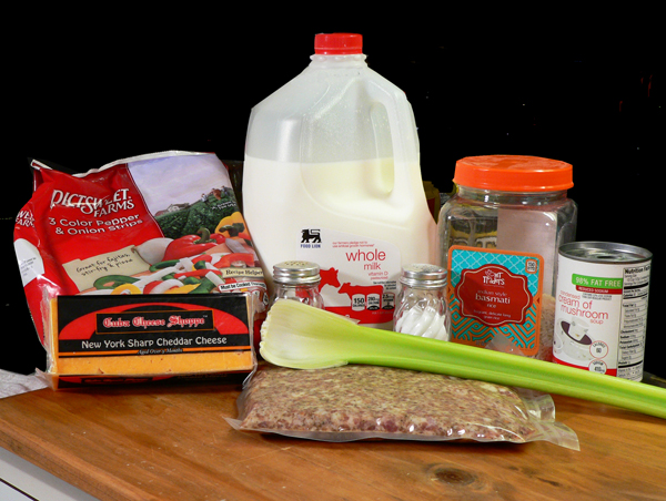Sausage and Rice Casserole, you'll need these ingredients.