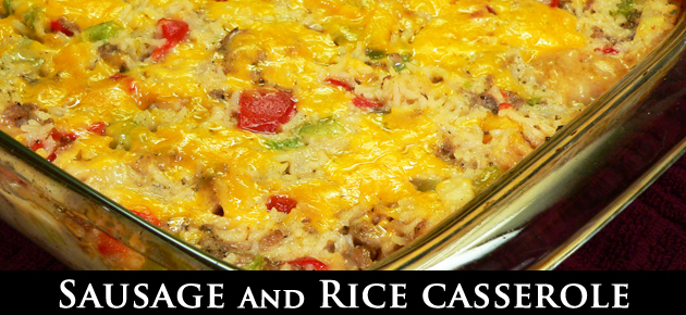 Sausage and Rice Casserole, slider.