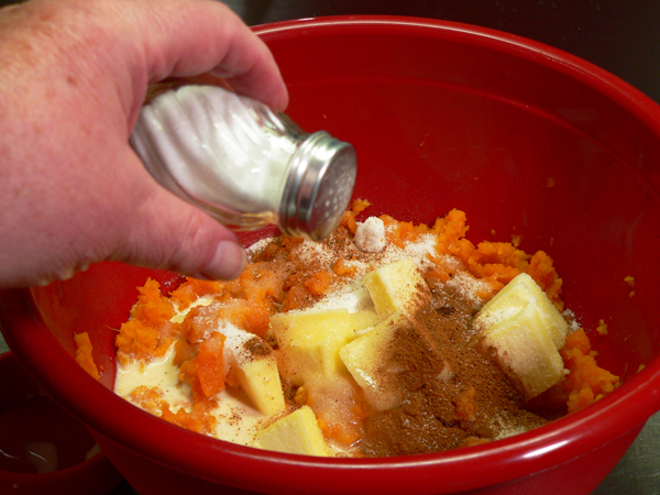 Sweet Potato Casserole, add a dash of salt.