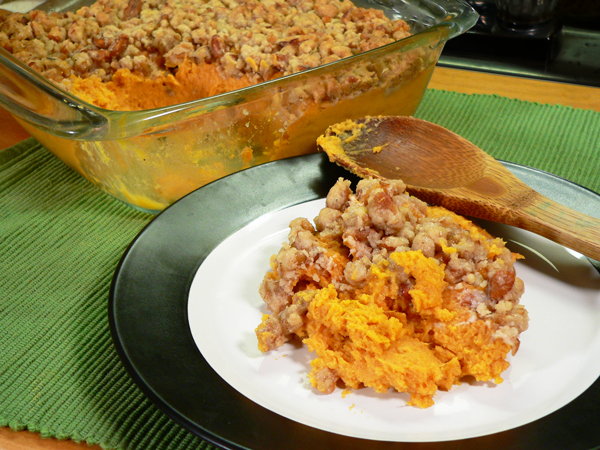 Sweet Potato Casserole recipe, as seen on Taste of Southern.