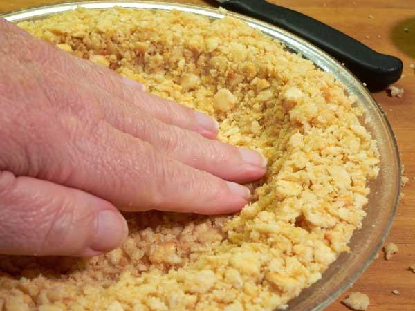 Atlantic Beach Pie, shape the crust.