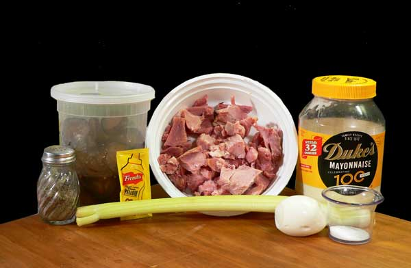 Ham Salad, you'll need these ingredients.