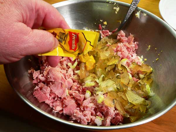 Ham Salad, add the mustard.